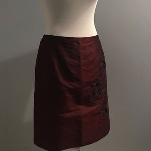 Classic Ann Taylor raw silk skirt